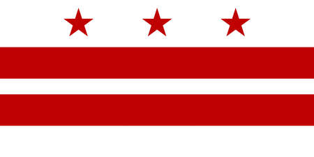 Illustration of the flag of Washington DC in America