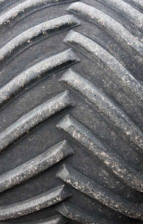 traction: Close up view of a large tyre