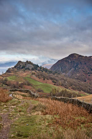Castle Crag and Raven Crag are located in the North Western Fells of the English Lake District National Park in Cumbria,UK.