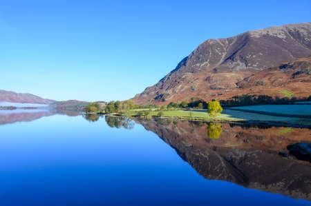 View of Grasmoor Fell across Crummock Water in the lake District,Cumbria,UK