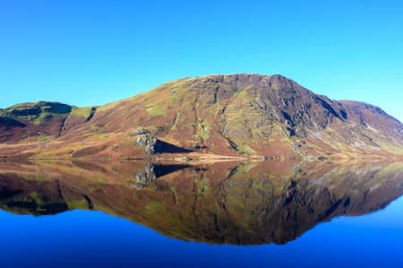View of Mellbreak looking across Crummock Water in the lake District,Cumbria,UK