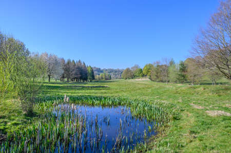 The overgrown pond is in the Woodlands Manor Golf Club. It is a disused golf course located in West Kingsdown,Kent England.