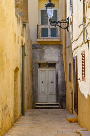 Dead End Street in the ancient Maltese city of Mdina on the island of Malta. Stok Fotoğraf