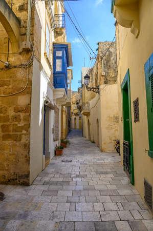 Quiet street in the city of Mdina,Malta Stock fotó