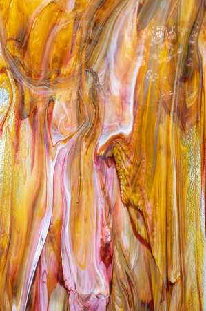 Sheet of hardened colourful molten glass
