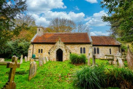 St Boniface Old Church in the village of Bonchurch, Isle of Wight. Stock fotó
