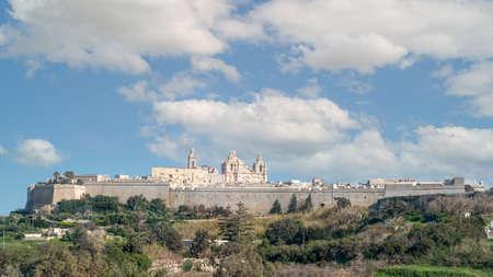 The Citadella (Citadel) old fortified city on Gozo island, Malta