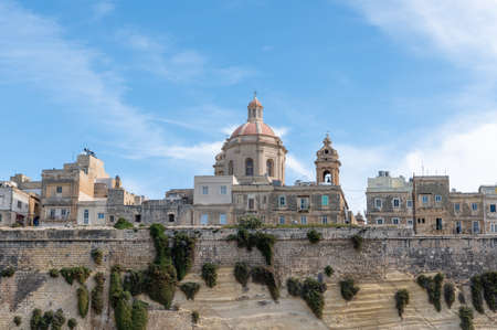 The Basilica of Our Lady of Mount Carmel is a Roman Catholic church in the capital Valletta on the island of Malta. Stock fotó