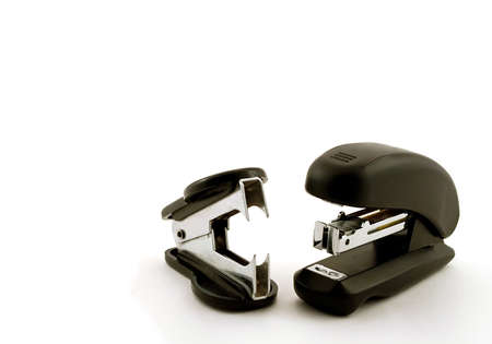 Stapler and puncher on a white background