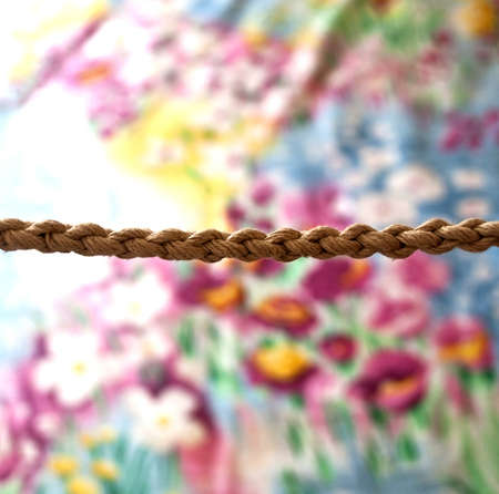 Rope on a flower background