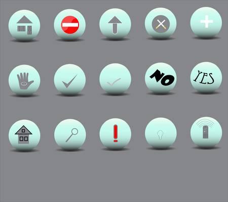 Set of 15 icons of various bulk