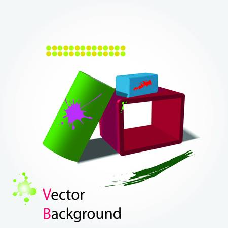 3d abstract background. Vector Stock Vector - 7937599