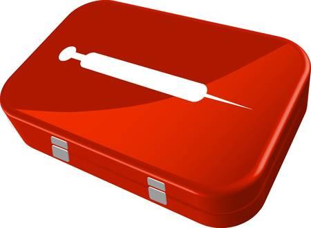 erste hilfe koffer: Erste-Hilfe-kit Illustration