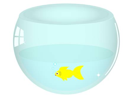 illustration of isolated fish bowl Vector