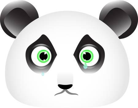 Panda smutna buźka with tears in his eyes Ilustracja