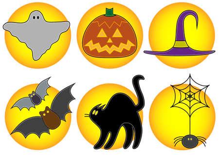 Cute Halloween icons photo