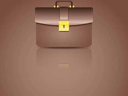 realistic brown briefcase Illustration