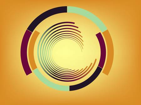 Abstract lines with circles. Vector Illustration
