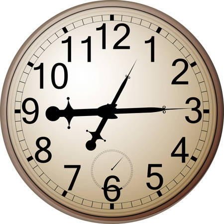 Classic wall clock with. Vector file .