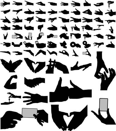 The bigest collection of vector arms, hands.  81 vectors. Eps8 Vector
