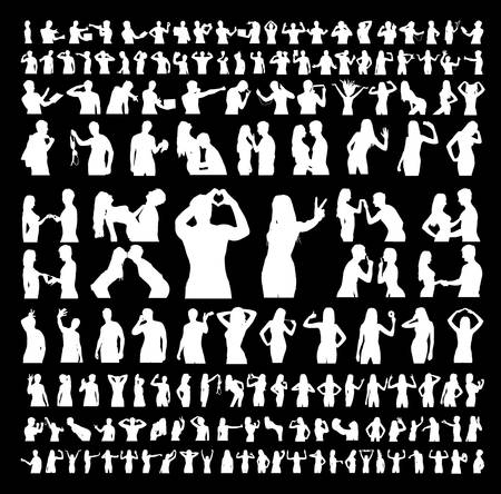 Lots of silhouettes of casual people and friends. Eps 8.