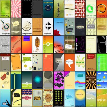 A largest collection of various business card designs Stock Vector - 8123531
