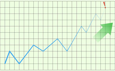 Vector - Graph showing rise in profits or earnings