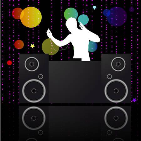 jockey: Poster.DJ de la m�sica. Vector de ilustraci�n en formato AI-EPS10  Vectores