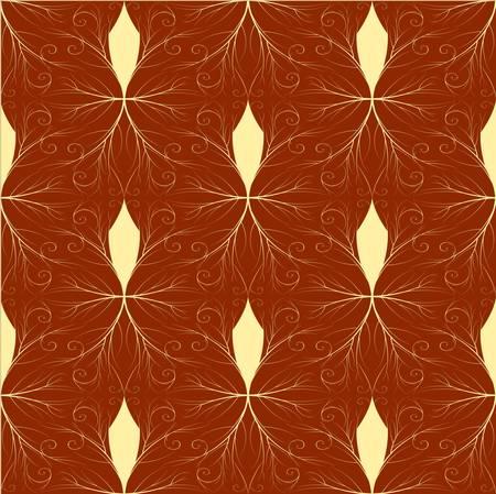 Seamless both side Damask wallpaper. EPS 8- vector Vector