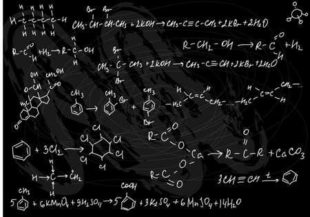 garabatos: Qu�mica transparente  Foto de archivo