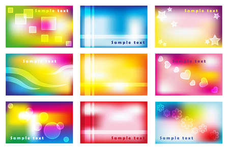 Set of colorful business cards photo