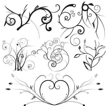 illustration drawing of floral frame Stock Vector - 8125688