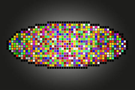 Abstract geometric background made of various color squares Vector