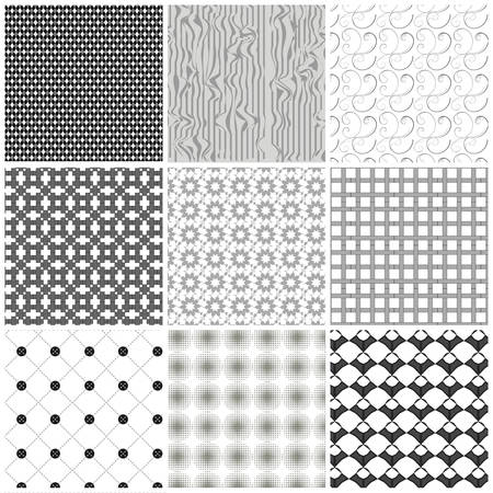 Set of monochrome geometrical patterns.  Stock Vector - 8125687