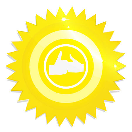 Illustration of gold Guarantee Label on white background