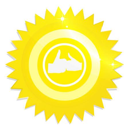 Ilustracja złota etykieta gwarancji na białym tle