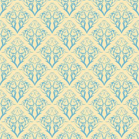 floral pattern  illustration element for design. Seamless.  Illustration