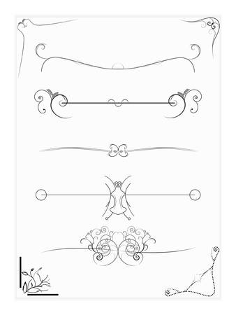 abstract design elements borders frames  Stock Vector - 8197756