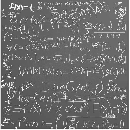 Zielony board school z chaotyczna formuły matematyczne