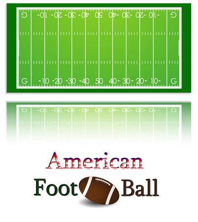 Ilustracja futbolu amerykańskiego pola i kulki. Każdy element na osobnej warstwie.