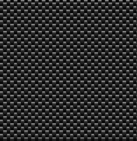 Una versión vectorizada del material de fibra de carbono muy popular. Ilustración de vector