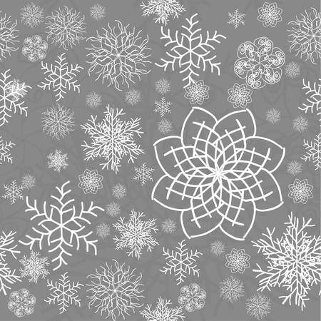 Abstract Seamless Snowflake gray Pattern