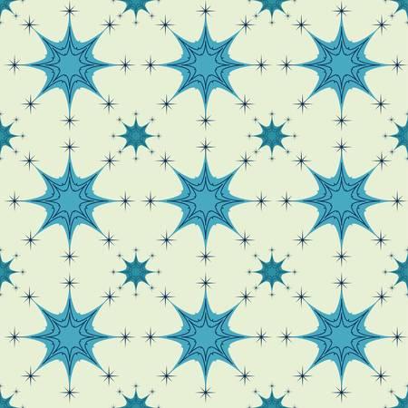 Abstract Seamless Snowflake gray Pattern Vector
