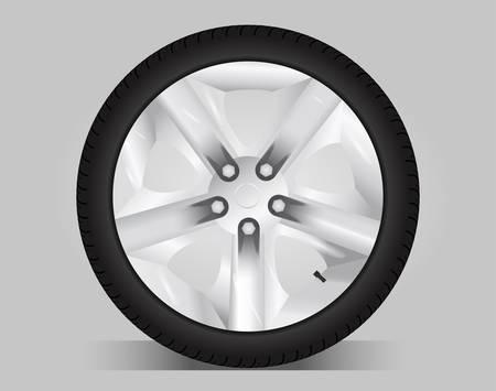 Aluminum wheel - vector illustration Illustration