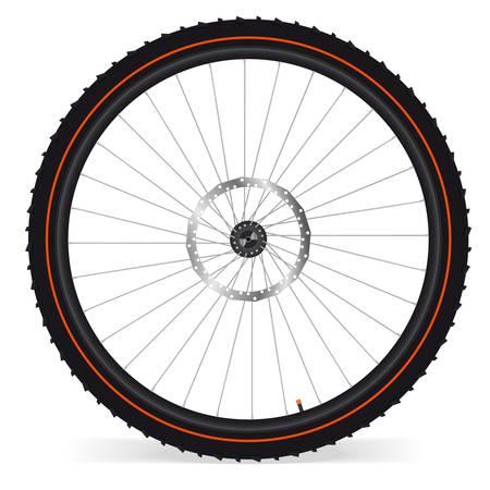 bike parts: Bike wheel Illustration