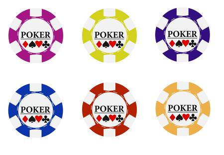 Casino Chips Stock Vector - 8378923