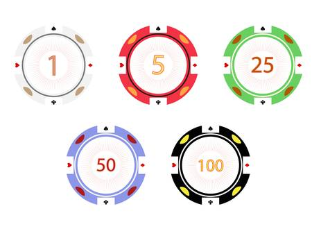Gambling chips, vector illustration