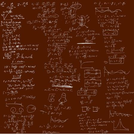 The background with physical formulas