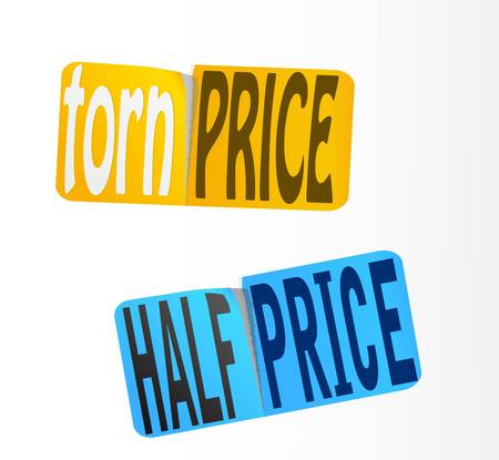 half price: Half Price Sticker