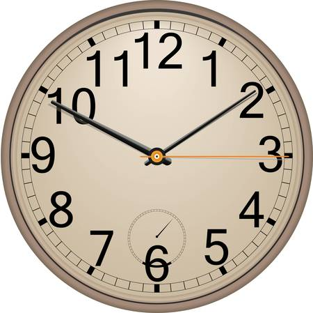 round face: Wall clock Illustration